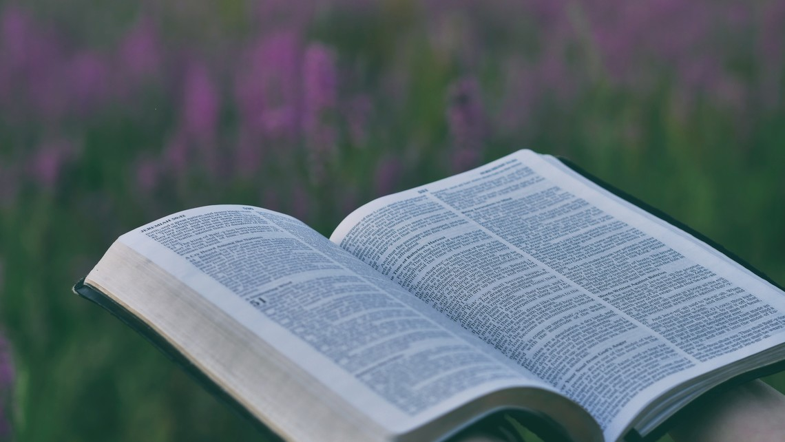 bible with flowers